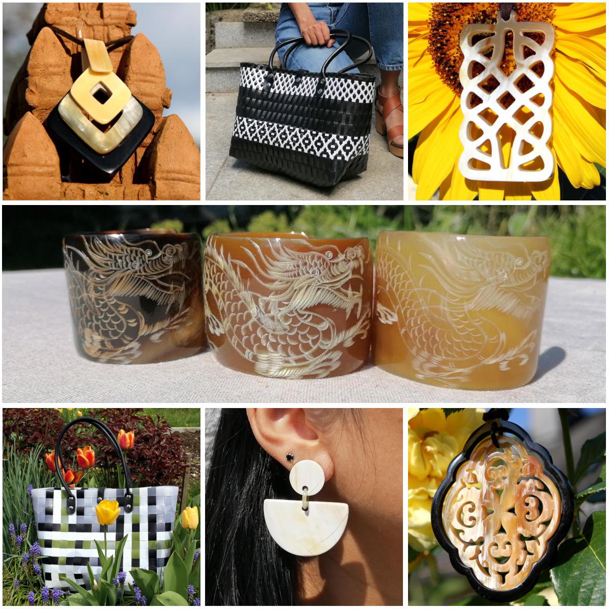 Avanova horn jewellery, bags, accessories