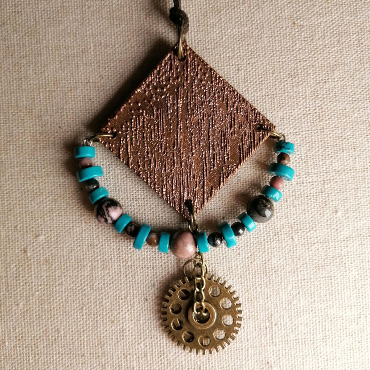 Steampunk pendant - handmade in Austria