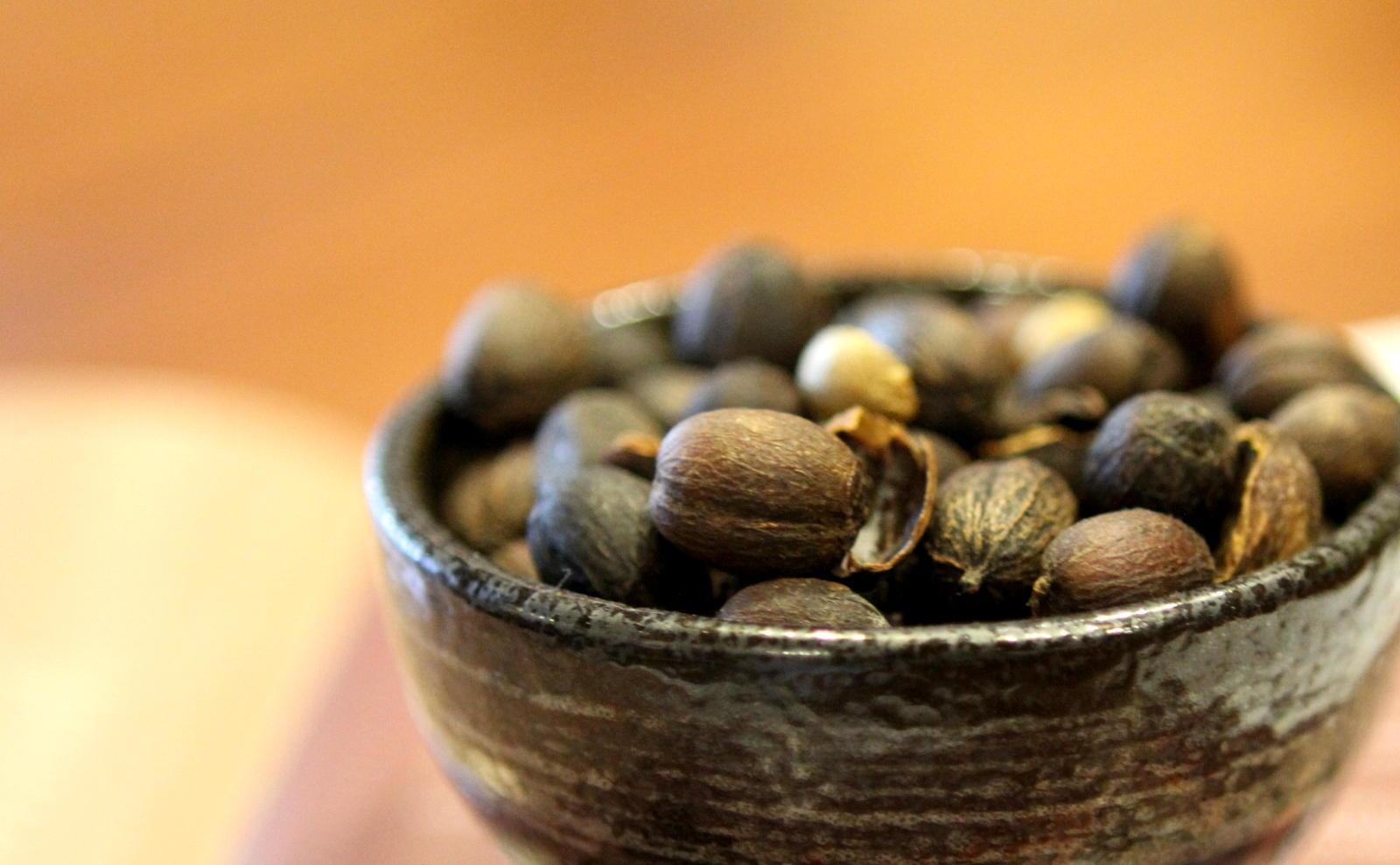 Coffee cherries dry