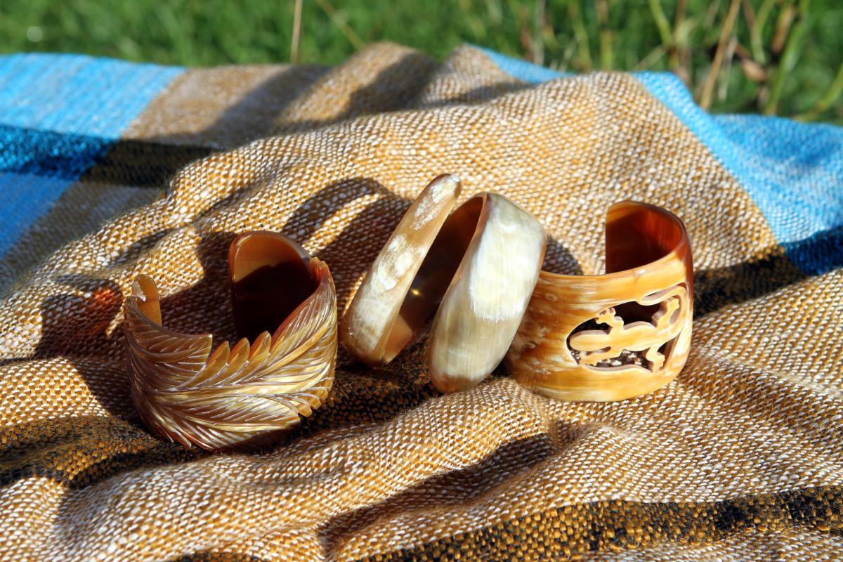 Horn ist ein leichtes Naturmaterial