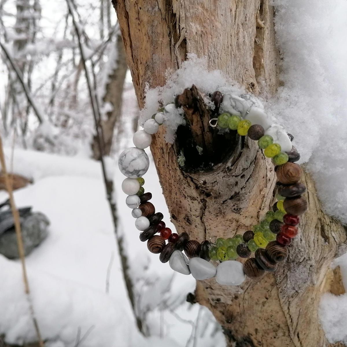 Yoga Armband im Schnee