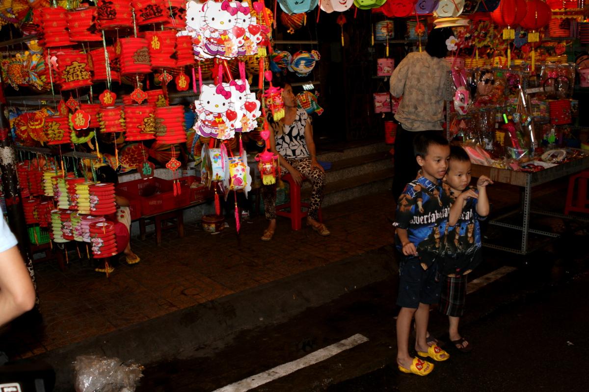 Laternenmarkt in Saigon