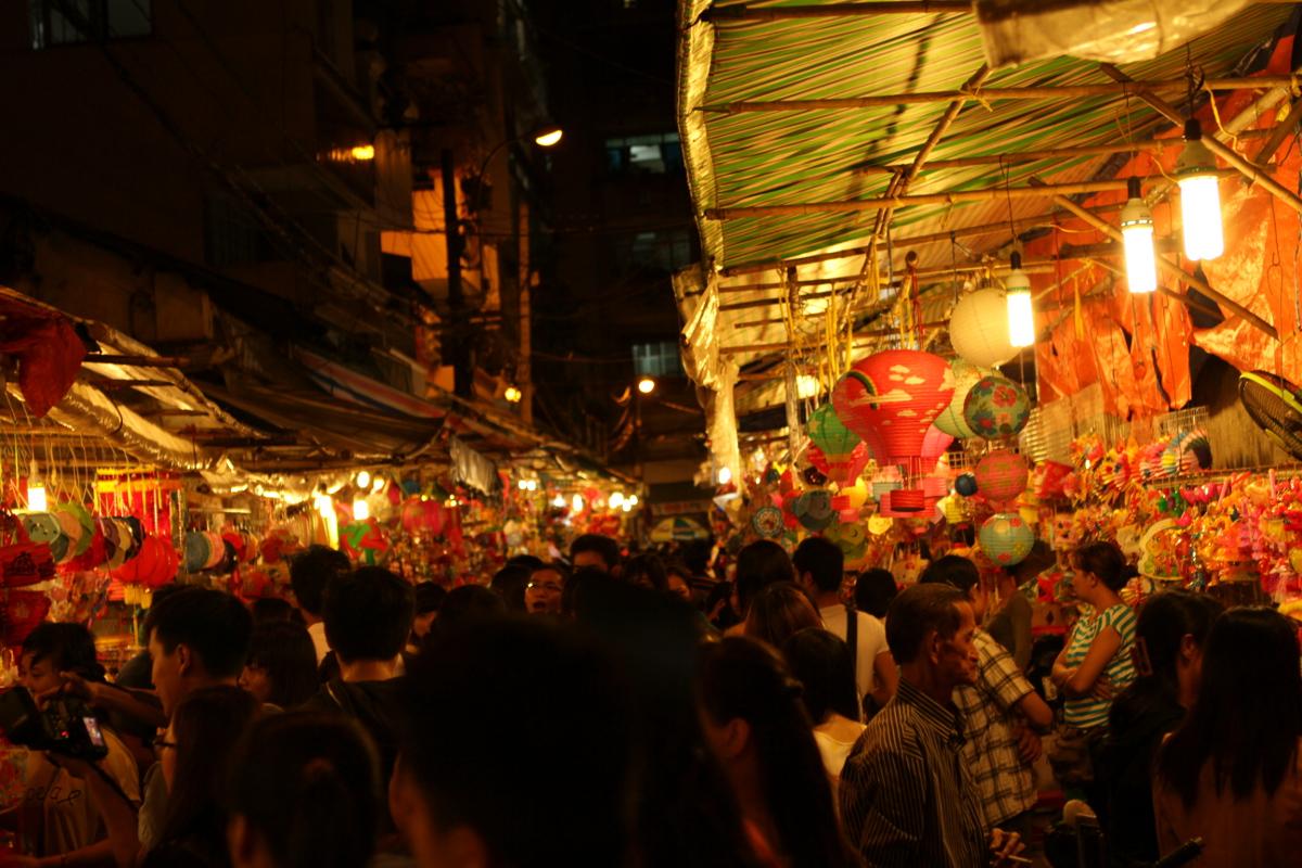 Laternenmarkt für das Vollmondfest