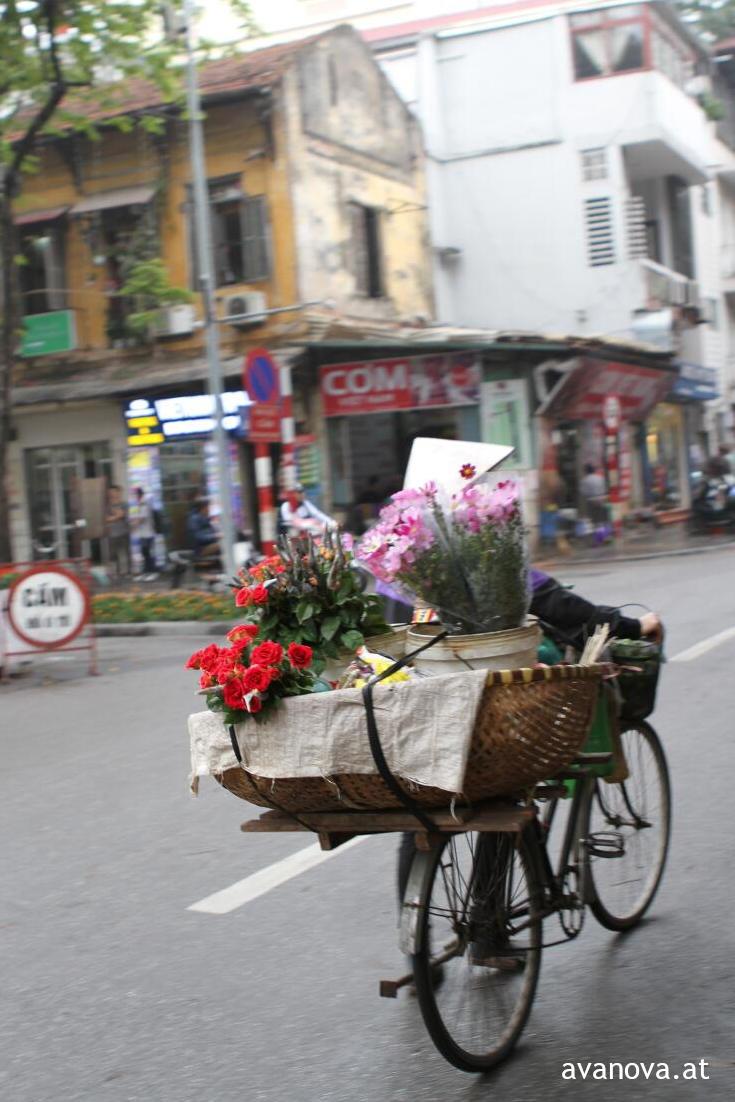 Blumenhändlerin in Hanoi