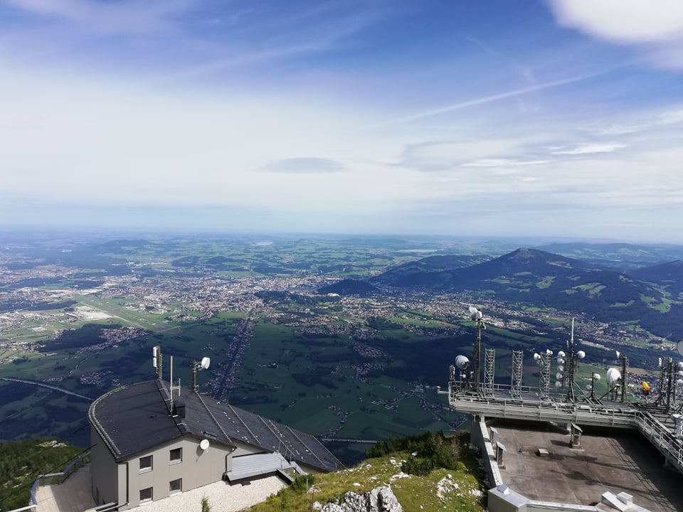 Untersberg, view on Salzburg